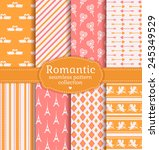 love and romantic backgrounds.... | Shutterstock .eps vector #245349529