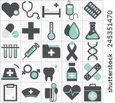 healthcare health medicine... | Shutterstock .eps vector #245351470