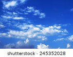 blue sky background with tiny... | Shutterstock . vector #245352028