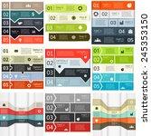 vector lines infographics set.... | Shutterstock .eps vector #245353150