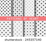 set of black and white heart... | Shutterstock .eps vector #245357140