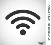 wi fi vector icon | Shutterstock .eps vector #245359000