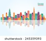 Chicago City Skyline. Vector...