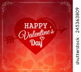 happy valentines day card.... | Shutterstock .eps vector #245363809