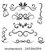 set of page decoration line... | Shutterstock .eps vector #245364394