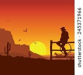 American Cowboy On Wild West...