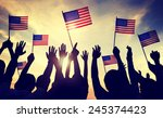flag usa july 4 celebration... | Shutterstock . vector #245374423
