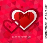 red paper hearts sticker with... | Shutterstock .eps vector #245375689