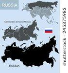 map of russia | Shutterstock . vector #245375983