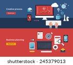 set of flat design vector... | Shutterstock .eps vector #245379013