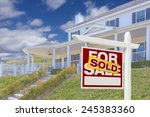 sold home for sale real estate... | Shutterstock . vector #245383360