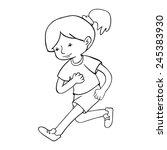 run girl contour vector... | Shutterstock .eps vector #245383930