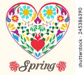 vector spring illustration with ... | Shutterstock .eps vector #245386390