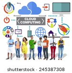 people digital device global...   Shutterstock . vector #245387308