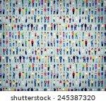 multiethnic casual people... | Shutterstock . vector #245387320