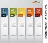 design clean number banners... | Shutterstock .eps vector #245391496