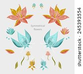 editable floral elements for... | Shutterstock .eps vector #245393554