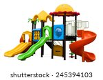 playground for children in the... | Shutterstock . vector #245394103