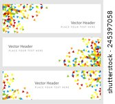 abstract template horizontal... | Shutterstock .eps vector #245397058