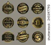 vintage label signs vector set    Shutterstock .eps vector #245397793