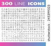 thin line icons set... | Shutterstock .eps vector #245399323