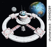 the new space station 2500 | Shutterstock . vector #24540289
