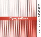 Set Of 8 Zigzag Patterns With...