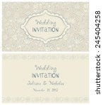 invitation card with flowers in ... | Shutterstock .eps vector #245404258