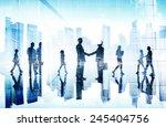 business people handshake... | Shutterstock . vector #245404756