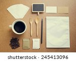 coffee identity mockup set with ... | Shutterstock . vector #245413096