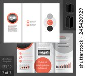 white brochure template design... | Shutterstock .eps vector #245420929