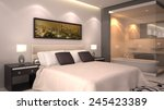 Stock photo bright modern interior of hotel room or condominium 245423389