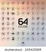 universal modern thin line... | Shutterstock .eps vector #245425009