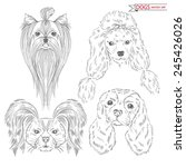 hand drawn animal set of dogs | Shutterstock .eps vector #245426026