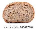 whole grain bread cut over... | Shutterstock . vector #245427184