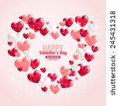 Valentines Day Card Design Wit...