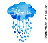 rain of hearts   Shutterstock .eps vector #245431804