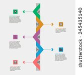 timeline infographics. color... | Shutterstock .eps vector #245435140