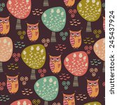 cute seamless pattern with... | Shutterstock .eps vector #245437924