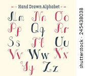 stylish hand drawn alphabet for ... | Shutterstock .eps vector #245438038