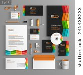 black corporate identity... | Shutterstock .eps vector #245438233