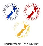 stamp made in new zealand | Shutterstock .eps vector #245439409