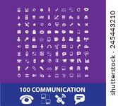 100 communication  connection ... | Shutterstock .eps vector #245443210