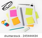 notebook with adhesive notes...   Shutterstock . vector #245444434