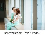 young couple love city | Shutterstock . vector #245449360