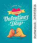 Happy Valentines Day Card With...