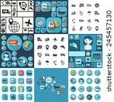 flat concept  set modern design ... | Shutterstock .eps vector #245457130