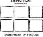 grunge frame set. vector... | Shutterstock .eps vector #245459008