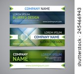 vector company banners with... | Shutterstock .eps vector #245466943