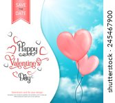 valentine's card with heart... | Shutterstock .eps vector #245467900